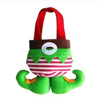 Wholesale Wholesale Toys For Party Bags - Christmas Decoration Gifts Bag Santa Pants cartoon Elf Style Candy Sugars and Demon Bags Cotton Bag for Children Kids Party Supplies