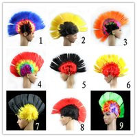 Wholesale Synthetic Wigs For Men - Women Men Mohawk Synthetic Hair Fashion Mohican Hairstyle Costume Cosplay Punk Party Wigs for Halloween Christmas Free Shipping