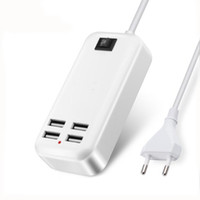 Wholesale lg phones china resale online - USB Charger W A EU UK or US Plug HUB Adapter Smart phone Charging Dock Device Travel For iPhone yotaphone2 HTC LG