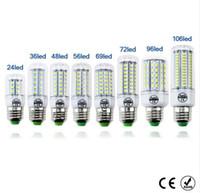 Wholesale E14 48 Smd - LED lamp Bulb E27 E14 Candle Light Bombillas 220V SMD 5730 Home Decoration Lamp for Chandelier Spotlight 24 36 48 56 69 106LEDs
