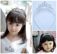 Wholesale Wholesale Bargain Jewelry - Hot Korean children's jewelry crown hair accessories for children 3-12 years old birthday crown heart-shaped spot not bargain factory