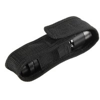 Wholesale Led Torch Holster Pouch - Nylon Holster Holder Case Belt Magic Tape Pouch for LED Flashlight Torch