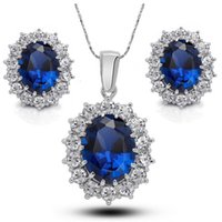 Wholesale Cheap Wedding Gifts Online - Necklace and Earrings Set Good Zinc Alloy Austrian Crystal Wedding Jewelry Sets for Brides Cheap Women Jewelry Online G242