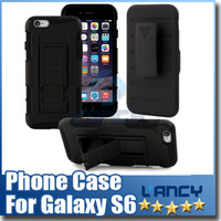 Wholesale Iphone Hard Case Holster Clip - For Samsung Galaxy S6 Future Armor Impact Hybrid Hard Case Cover + Belt Clip Holster Kickstand Combo iphone6 Plus Note 4 Free Ship
