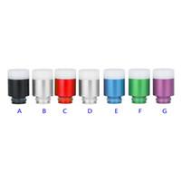 Wholesale large mods online - Rich Colors Resin Drip Tip DIY Holes Large Vapor Drip Tips Fit RDA EGO Vaporizers Atomizer E Cigarettes Mods Mouthpieces