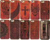 Wholesale Custom Cell Phone Accessories - Wooden Phone case 11 pattern Mobile accessories laser engraving custom design wooden cell phone case for iphone x iphone8 plus with opp bags
