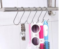 Wholesale Stainless Steel Hanging Hooks - 7 cm S Hanging Hanger Rack Holder Stainless steel Hook Hooks
