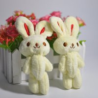 Wholesale Metoo Phone - 10cm 40pcs lot Metoo Bunny bare rabbits joints cartoon bouquet doll plush toy pendant lanyard for phone bag Decoration