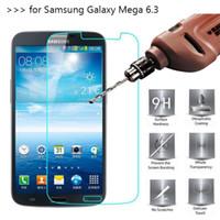 film galaksisi mega toptan satış-100 ADET Temperli Cam Ekran Koruyucuları Samsung Galaxy Mega 6.3 I9200 2.5D Patlama Paramparça Ekran Koruyucu Film DHL lojistik