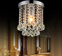 Wholesale Pendant Light Modern Small - 1 light 15cm Crystal Chandelier Mini Light Fixture Small Clear Crystal Lustre Lamp for Aisle Stair Hallway corridor porch light