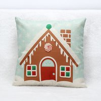 case dog house - Vintage Christmas Cute Dog Tree And House Bed Home Festival Pillow Case