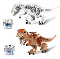 block insert - 2016 HOT Children s educational building blocks assembled fight inserted educational toys Dinosaurs Tyrannosaurus rex with