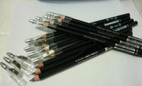 Wholesale Eyebrow Pencil Sharpener - Free shipping makeup eyebrow pencil with sharpener eye lip liner pencil black and brown 12 PCS
