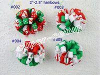Wholesale Grosgrain Flower Hair Bows - Christmas New Product 20pcs Bowknot hair accessories kids bows flower baby girls headwear flower boutique grosgrain hair clip HD32