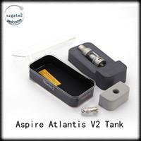 Wholesale V2 Clearomizer - Aspire Atlantis 2 Tank 3ml Adjustable Airflow Upgraded Atlantis V1 Atomizer Pyrex Glass Tube Vapor Clearomizer Atlantis v2 II Coils 0266005
