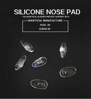 glasses nose pads achat en gros de-plaquette nasale en silicone 500pcs de lunettes de nez partie vis à pousser dans CY033 ~ cy035 shippig gratuit