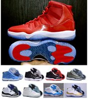 Con Box Air Retro 11 HighCut gym rosso scarpe da pallacanestro Midnight Navy Metallic Gold Barons università blu allevato concord Varsity Red Sneaker