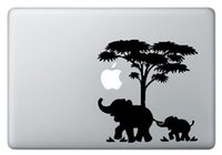 "Wholesale Notebook Apple Sticker - Elephant Father& Son Creative Notebook Decal Laptop Sticker for Apple Macbook Air Pro Retina 11"" 12"" 13"" 15"" Cover Skin Art Sticker CHUSE-10"