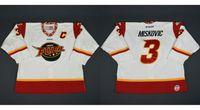 Wholesale Hot Fuel - Hot sale Customize ECHL Indy Fuel 3 Zach Miskovic Mens Womens Kids Cheap Hockey Jerseys Goalit Cut Wholesale