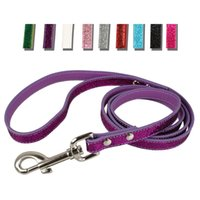 "Wholesale Pu Leather Dog Collars - 48"" Bling PU Leather Dog Puppy Leash Lead (5 colors) Matching for Collars Harness"