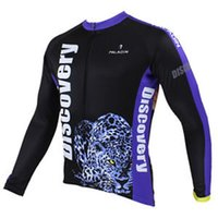 Wholesale Discovery Cycling Jersey Long Sleeves - Wholesale-2015 Discovery Long Sleeve Men's Cycling Jerseys Leopard Bicycle Sport Clothing Top