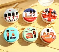 Wholesale Beauty Gifts Packaging - 2015 Hot Women Coin Purse Beauty Tinplate Mini Purse key Wallets Round Headphone Mini Package Change Coin Bag Zipper Love Letter Small Gifts