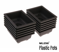 Wholesale Plastic Bonsai Pots - Free shipping Hot Sale RetroStyle Basin Plastic Flower Pot Balcony Square Flower Bonsai Planter Nursery Pots Basin Maceta Cuadrada Wholesale