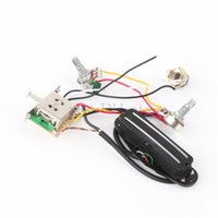 Wholesale Circuit Wiring - Black GuitarTwin-coil Pickup HUMBUCKER Circuit Wiring Harness Pot Switch Set