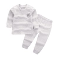 Wholesale Custom Lighted Clothing - Can Custom Best Quality 2017 children's wear Boy and Girl Long sleeve infant suit 60-110 cm child baby Clothing 2 piece suit Cotton clothes