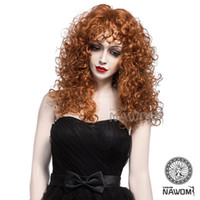 Wholesale Retro Hair Wigs - Retro Curly Hair Wig Brown Color 100% Kanekalon 2015 new arrival 1pcs Free Shipping 0623-W2108