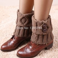 Wholesale Legging Hot Sex - Wholesale-5 pair 2015 new hot womens sex wool rain boots cuff socks lady calcetines botas de agua meias leg warmer for women