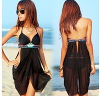 Wholesale Ladys Suits - 2015 New brand Summer Ladys Cover-ups Padded sexy bikinis Bathing Suits Swimwear Free Shipping