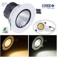 CREE LED Downlights 9W cob led downlight lihgt Downlight pour maison Dimmable Warm / Cool blanc Led lampe de plafond 110V 220-240V + CE ROHS