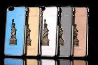 freiheitslegierungen großhandel-Statue of Liberty Fall Metall Aluminiumlegierung Fall Abdeckung für iPhone 4 4 s 5 5 s 6 6 s Plus frei DHL