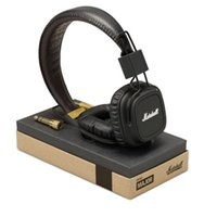 Wholesale Great Cell - Marshall Major Headset With Mic Great Bass DJ Hi-Fi Headphones Iphone Earphones 3.5mm Earphones Professional DJ Monitor Headphones 3 Colors.