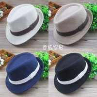 Wholesale baby summer accessories for sale - Fit baby age T children fedora hat colors kids fashion hats baby formal caps boys accessories