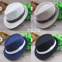 ingrosso cappelli formali da ragazzi-Misura baby età 2-6T bambini fedora cappello 4 colori cappelli moda per bambini baby cappelli formali ragazzi accessori