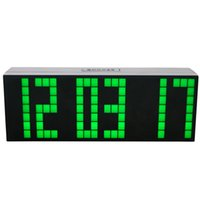 temporizadores de pared digitales grandes al por mayor-Modern Digital Large Big Jumbo LED Relojes despertadores digitales Snooze Wall Cuenta atrás Deskstop Table Electronic Flip Clock Relojes temporizadores