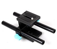 Wholesale Dslr Rig Follow - Wholesale-Free shipping + tracking number 15mm Rail Rod Support System Baseplate Mount for DSLR Follow Focus Rig 5D2 5D