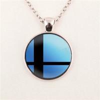 Wholesale Super Smash - Wholesale New Fashion Smash Ball Necklace Super Smash Bros Jewelry Glass Dome Pendant For Jewelry Pendant glass gemstone necklace 82
