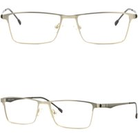Rectángulo Full Rim Hombres Mujeres Titanium Light Marcos Prescription Glasses Plata
