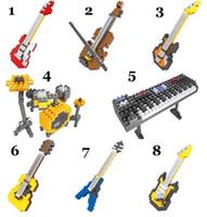 Wholesale HSANHE Building Blocks Toys D Musical Instruments Diamond Building Bricks Action Figures Puzzles for Kids EMS Free