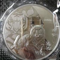 talla de pared colgante al por mayor-1 kg-plata-china-moneda-1000 g-plata-99-99-zodiaco-plata-monedas-tigre