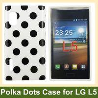 Wholesale Lg Optimus L5 E615 Case - Wholesale Fashion Polka Dots Soft TPU Gel Cover Case for LG Optimus L5 E610 E612 E615 Free Shipping