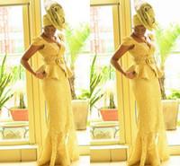 estampas africanas sereia vestidos venda por atacado-Moda Ankara kitenge mulheres africanas vestidos de baile sereia estampa africana tranças vestidos de noite nigerianos moda gengibre moda vestido