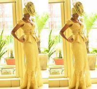 afrikanische drucke meerjungfrau kleider großhandel-Mode Ankara kitenge afrikanischen Frauen Prom Kleider Meerjungfrau afrikanischen Drucke Braids nigerischen Abendkleider ghanaischen Mode Prom Dress