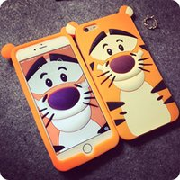 Wholesale Galaxy S3 Tiger - 3D Cartoon Tiger Animal Monsters Sulley Alice cat Silicone Case Cover For Samsung galaxy S3 S4 S5 S6 Note 3 Note 4 OEM