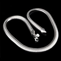 Wholesale snake chain 925 6mm for sale - Group buy Promotion Sale silver chain necklace Christmas fashion Silver MM Snake Chain necklace jewelry hot sale