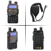 Altoparlante radiofonico radiofonico + mano bidirezionale radiofonico FM 5W di Pofung Uv 5r del radiofonico doppio del banda radiofonico di FM-5RE Plus + UHF + VHF di Wholesale-Walkie Talkie Baofeng UV-5RE Plus