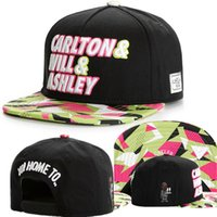 Wholesale Men Neon Fashion - Cayler And Sons Fresh Prince Carlton Will Ashley 90s Neon Black Snapback Hat Cap,Men's Accessories, Hat,Fashion Street cap